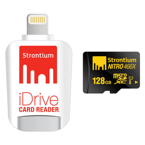 Strontium 128GB Nitro iDrive Card Reader With Lightning Connector