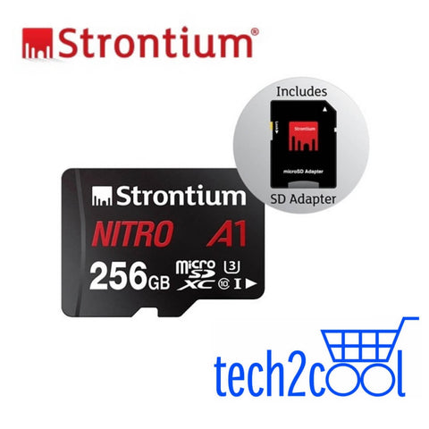 Strontium Nitro A1 256GB UHS-I Micro SDXC Memory Card with SD Adapter