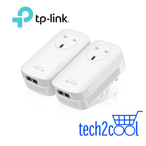 TP-Link TL-PA9020P AV2000 2-Port Gigabit Passthrough Powerline Starter Kit