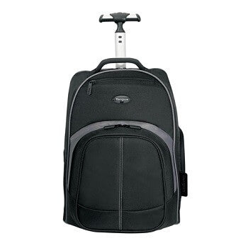 Targus 16-In Compact Black/Grey Rolling Backpack
