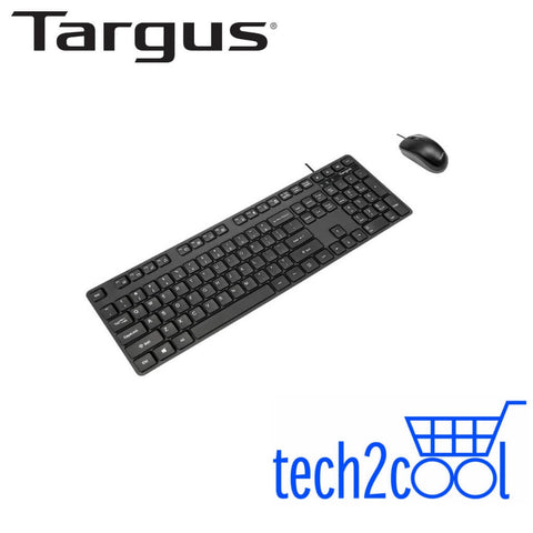 Targus AKM600AP Black USB Wired Mouse and Keyboard Combo