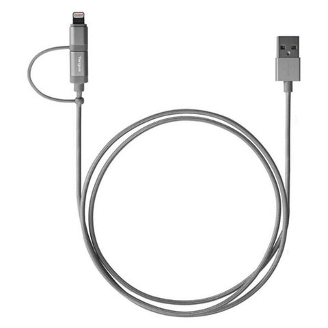 Targus ACC99AP Black Aluminium Lightning and Micro USB 2-in-1 Cable