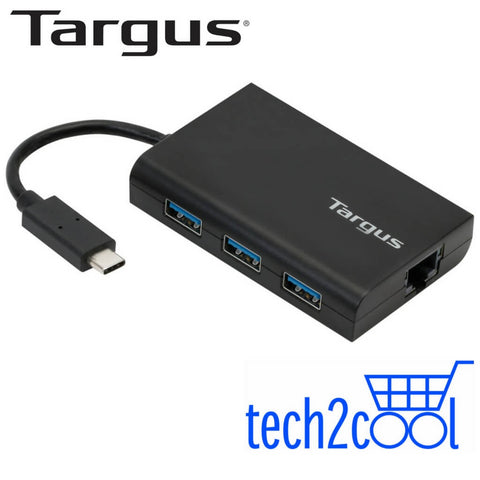 Targus ACH230AP USB-C USB 3.0 Hub with Gigabit Ethernet