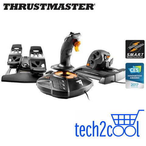 Thrustmaster 2960782 T.16000M Flight Pack Joystick, Throttle and Rudder Pedals for PC