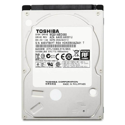 Toshiba 500GB 2.5-In 5400 RPM SATA Mobile Hard Drive
