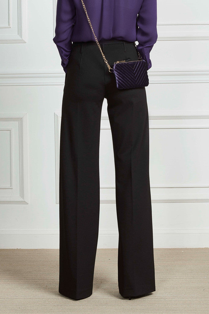 Milano ribbed wide pants
