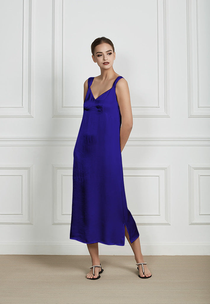 HAVRE MIDI DRESS - BLUE
