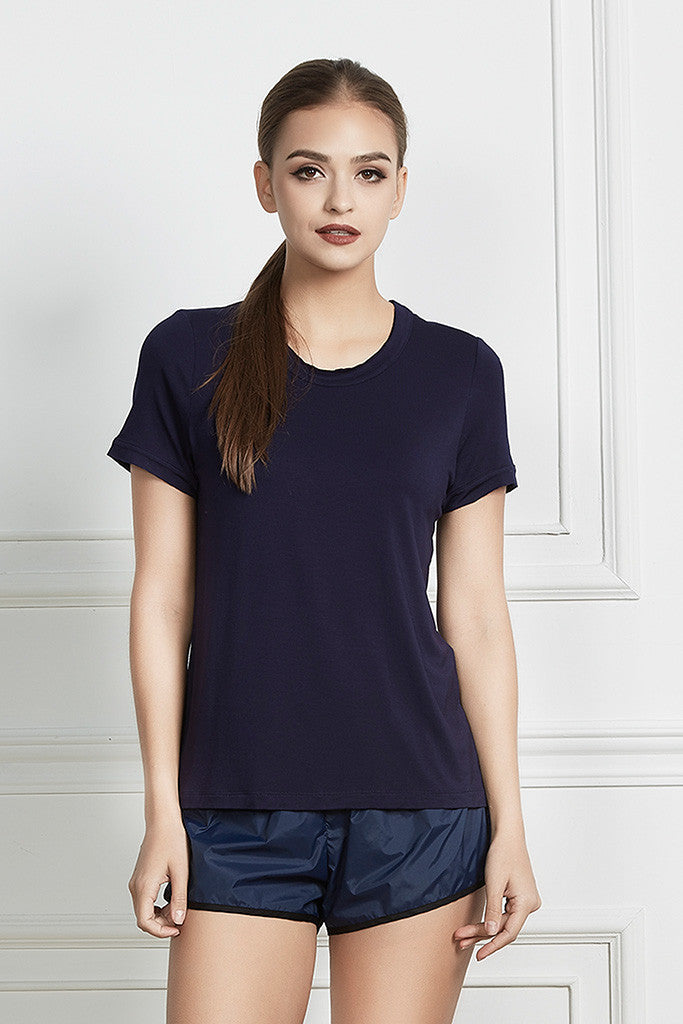 raw-edge cotton t-shirt with embroidery