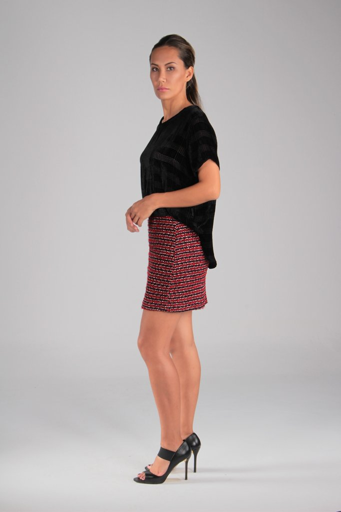 Nine Knit Tweed Skirt