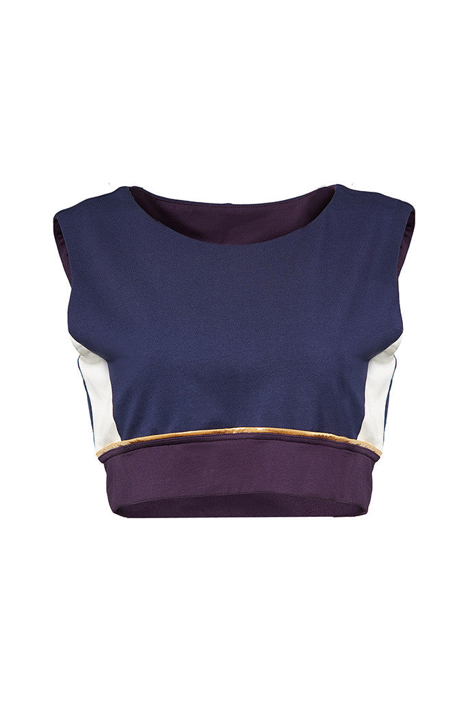 Cotton jersey fitted crop top