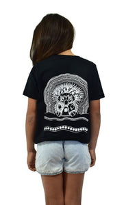 Girls Black Echidna Tee