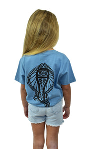 Girls Blue Stingray Tee
