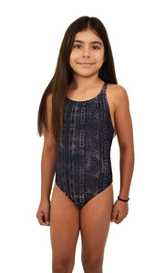 Girls Summer Grey One Piece