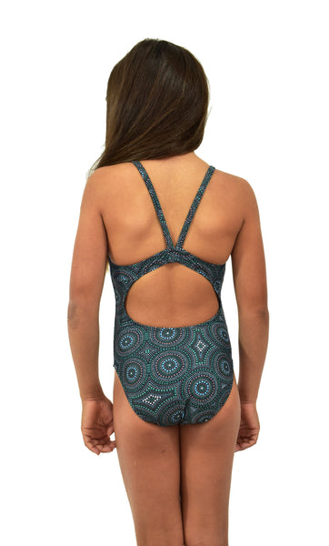 Girls Bibbulum Green One Piece