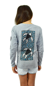 Girls Grey Turtle Longsleeve
