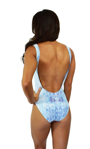 Womens Summer Blue One Piece