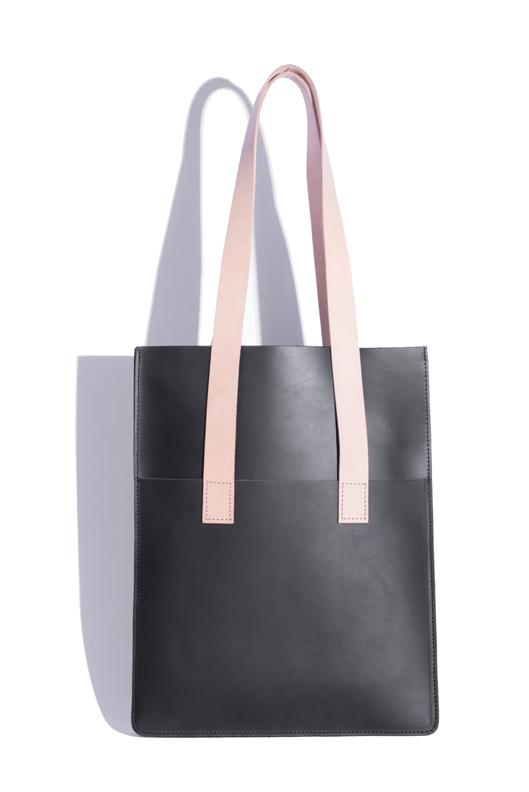 Parallel Tote with tan straps