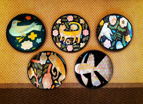 Antique Japanese decorative wall plates