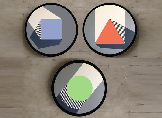 Geoimagination Wall Hanging Plates Set