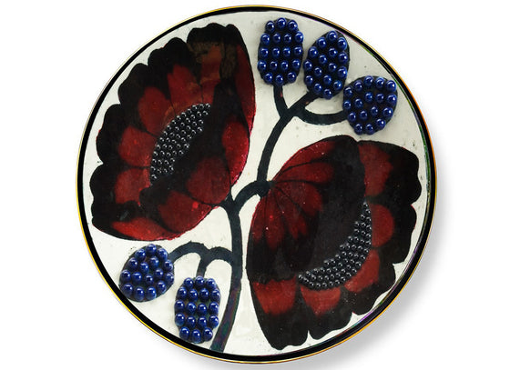 3D floral design Hungarian wall plate