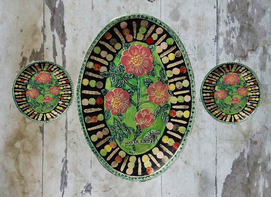 Mexican Exquisitely Designed Wall Hanging Plates