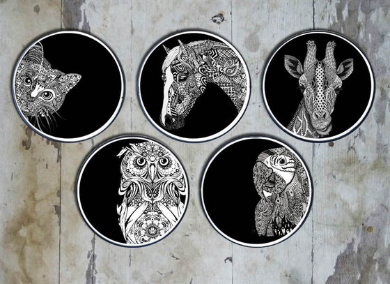 Intricate Design Animal And Bird Design Wall Plate
