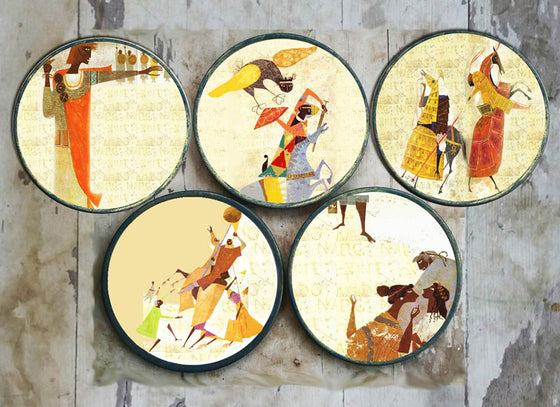 Contemporary Wall Decor for Dining Room - Ceramic Wall Art & Wall ...