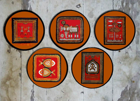 Saura Design Hand Painted Ceramic Wall Plate