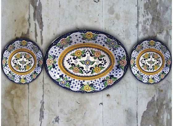 ceramic Mexican wall plate