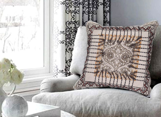 Textured Fringe Cotton Cushion Cover
