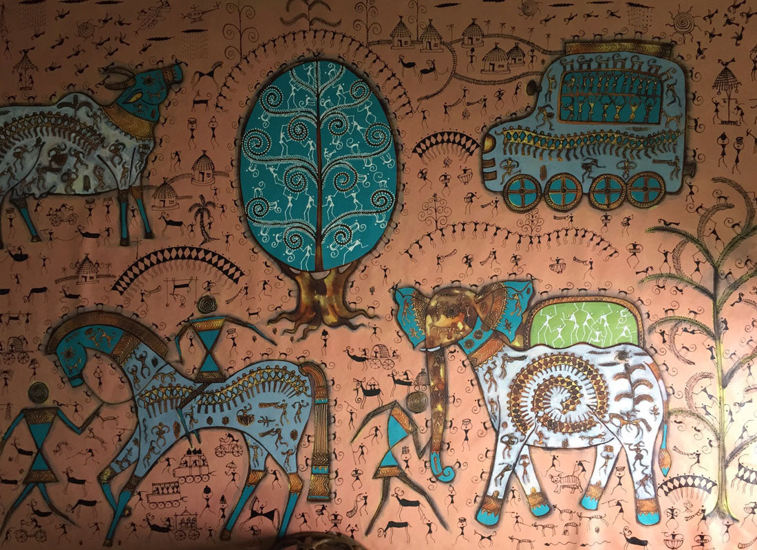 Decorative Folk art  Warli Painting