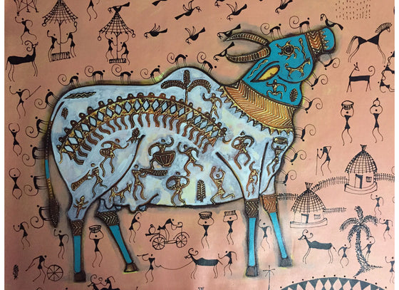 Indian folk art warli painting
