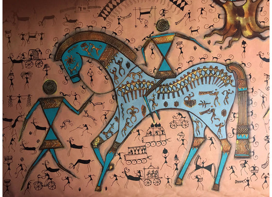 Tribal painting for Living Room