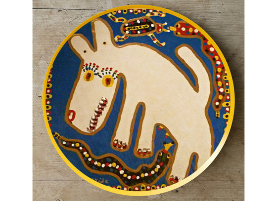 Abstract African art style wall plate