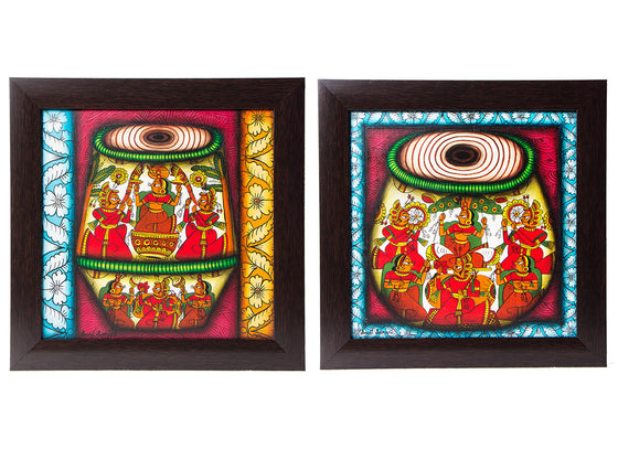 Abstract Art Tabla Set  Phad Wall Painting