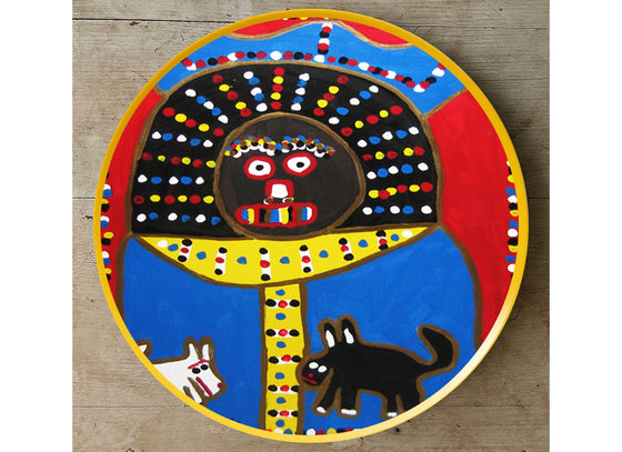 Abstract art African tribal wall plate