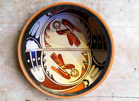 Abstract art Navajo wall decor plate