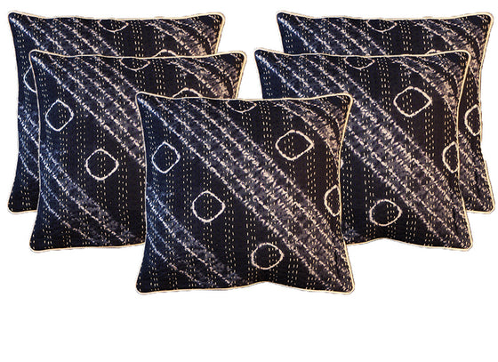 Abstract design kantha cushion covers