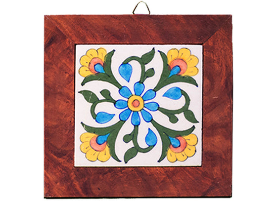 Abstract floral design wall hanging