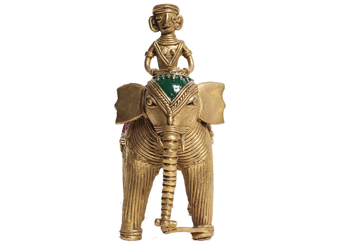 Antique Brass Elephant Dhokra Showpiece