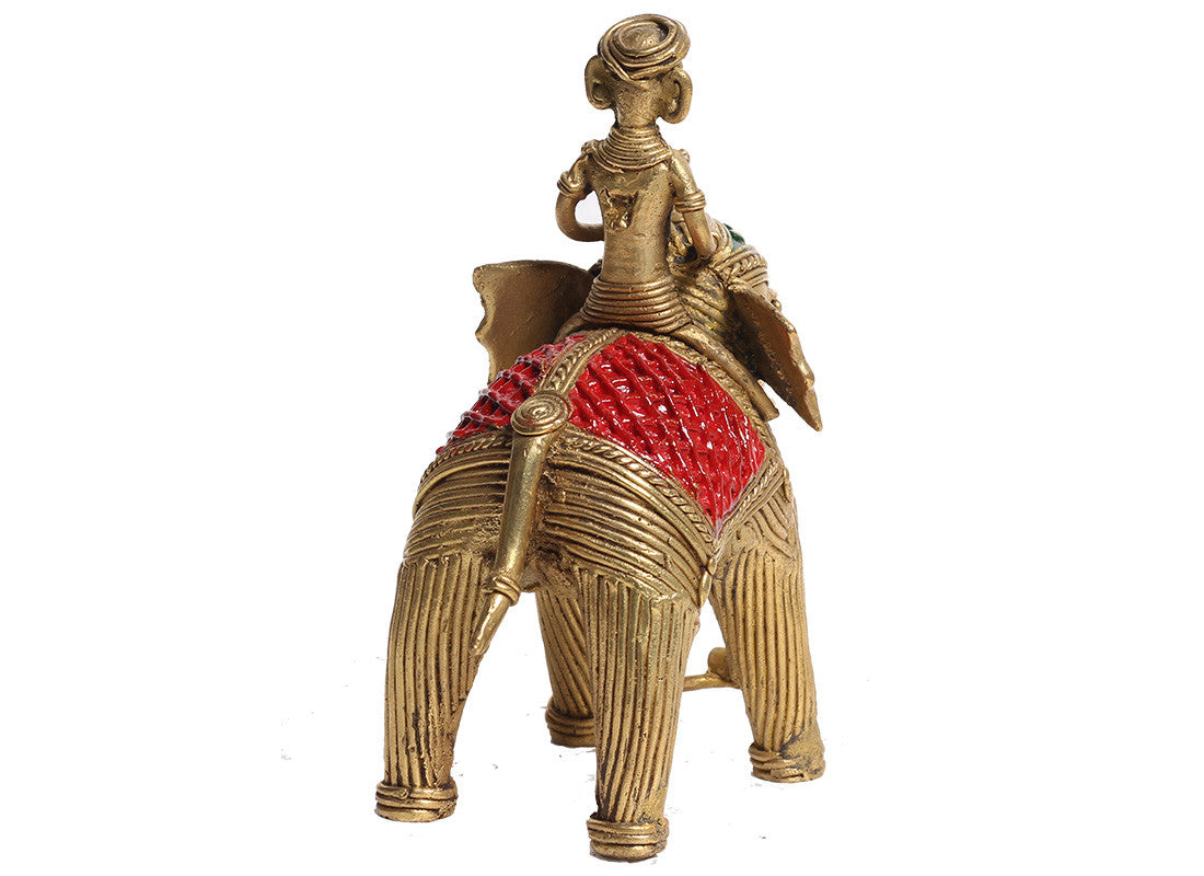Brass Elephant Dhokra Showpiece