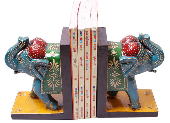 Antique elephant bookend art design