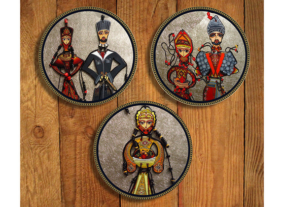 Armenian folk design wall plate decor
