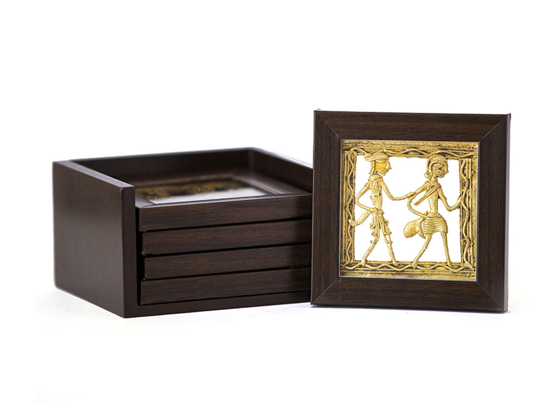 Dhokra Coaster Set Of 4 Coaster