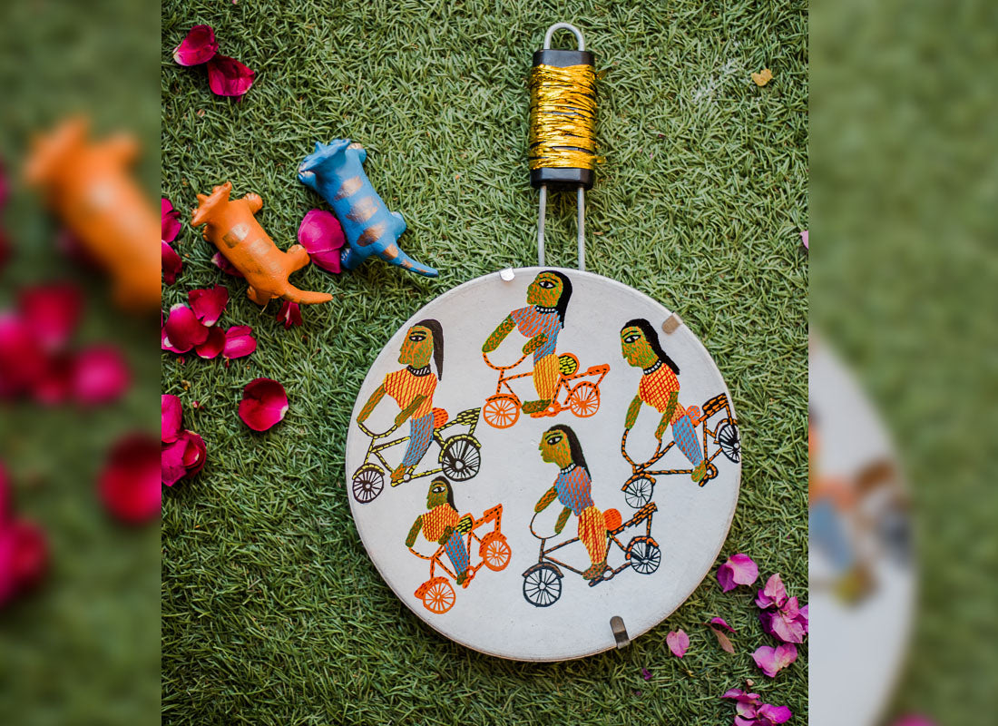 Hand painted Terracotta Wall Hanging Decor