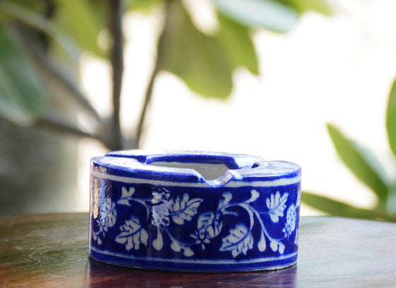 Blue Pottery Creative Design Ashtray