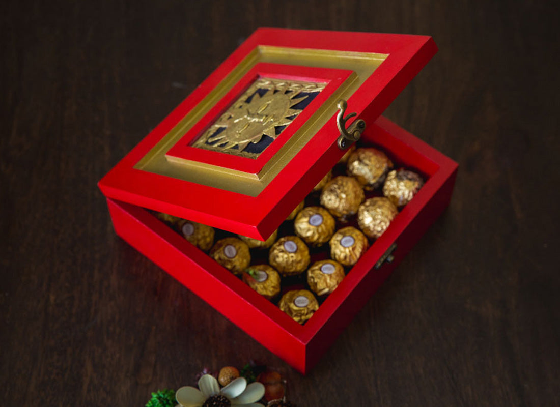 Fibreboard Chocolaté Box With Surya Jaali