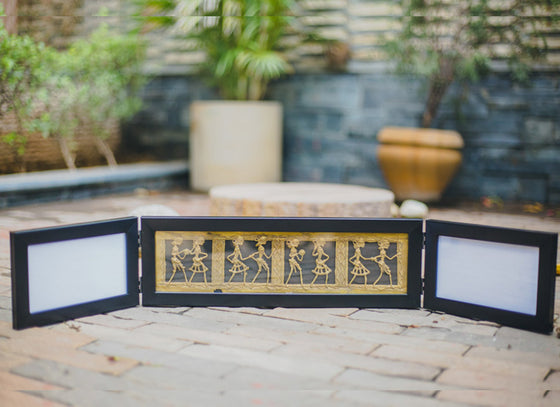 Horizontal Dhokra Art Photo Frame