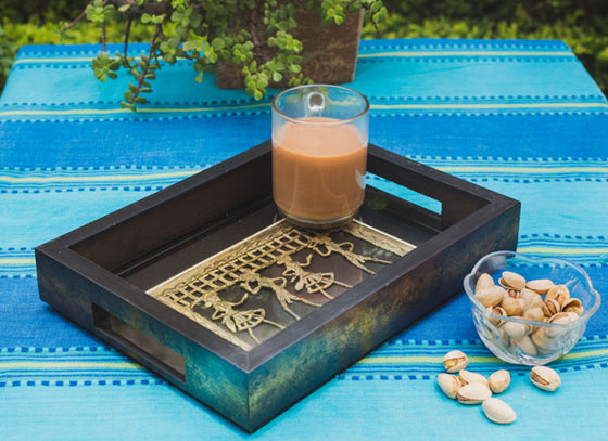 Hancrafted Ethnic Dhokra Art Form Tray