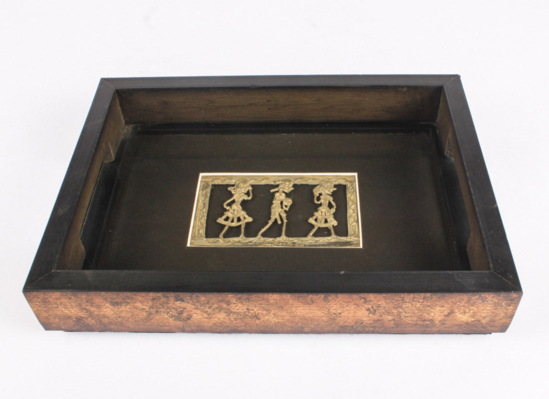 Ethnic Dhokra Art Tray design